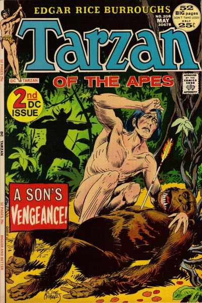Cover for Tarzan (DC, 1972 series) #208