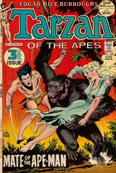 Cover for Tarzan (DC, 1972 series) #209