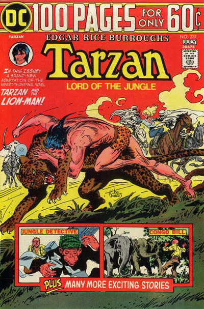 Cover for Tarzan (DC, 1972 series) #231