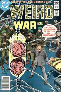 Cover for Weird War Tales (DC, 1971 series) #81