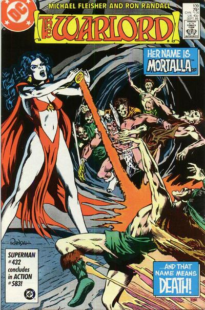 Cover for Warlord (DC, 1976 series) #109 [Newsstand Edition]
