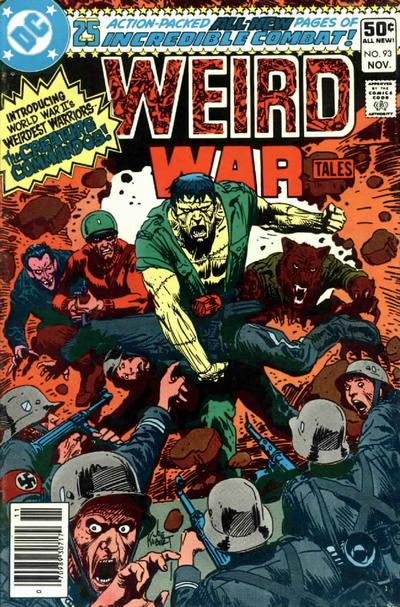 Cover for Weird War Tales (DC, 1971 series) #93 [Newsstand]