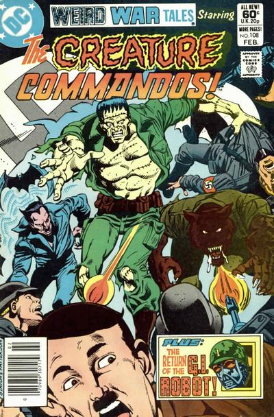 Cover for Weird War Tales (DC, 1971 series) #108