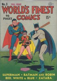 Cover for World's Finest Comics (DC, 1941 series) #3