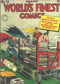 Cover for World's Finest Comics (1941 series) #13