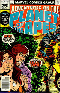 Cover for Adventures on the Planet of the Apes (Marvel, 1975 series) #7 [25 cent cover price]