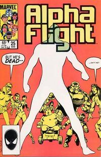 Cover Thumbnail for Alpha Flight (Marvel, 1983 series) #25 [Direct Edition]