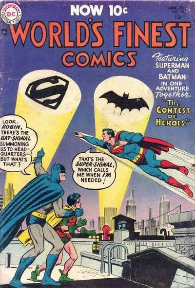 Cover for World's Finest Comics (DC, 1941 series) #74