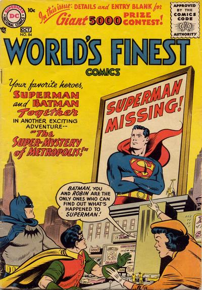 Cover for World's Finest Comics (DC, 1941 series) #84