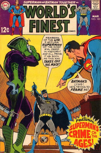 Cover for World's Finest Comics (DC, 1941 series) #183