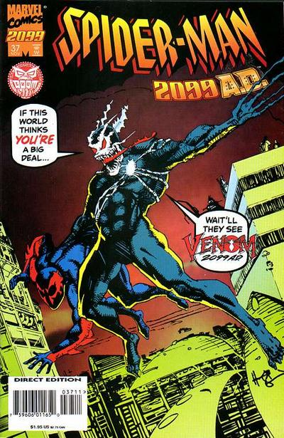Cover for Spider-Man 2099 (Marvel, 1992 series) #37 [Venom 2099 Cover]