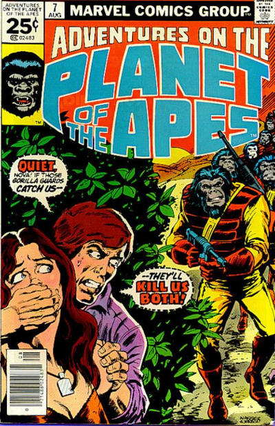 Cover for Adventures on the Planet of the Apes (1975 series) #7 [25 cent cover price]