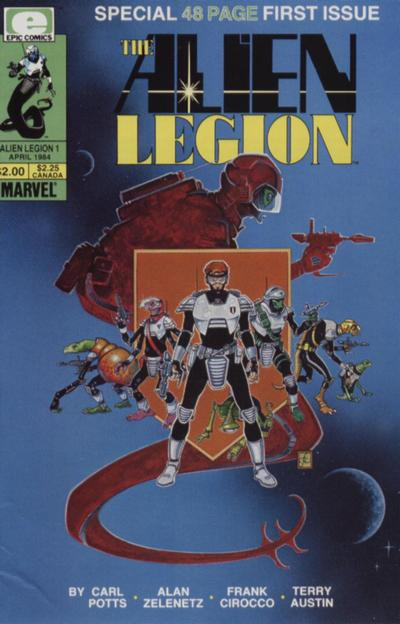 Cover for Alien Legion (Marvel, 1984 series) #1