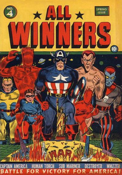 Cover for All-Winners Comics (Marvel, 1941 series) #4