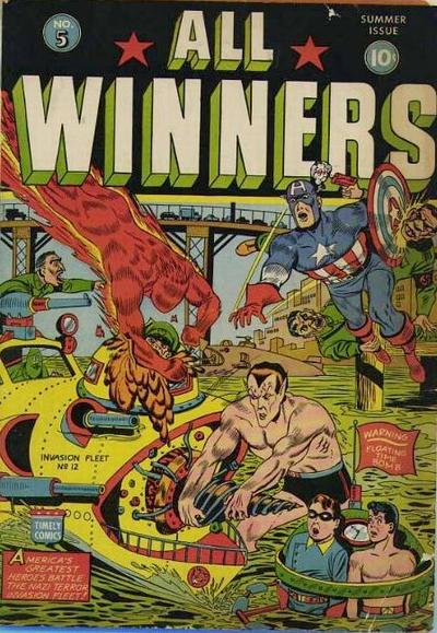 Cover for All-Winners Comics (Marvel, 1941 series) #5