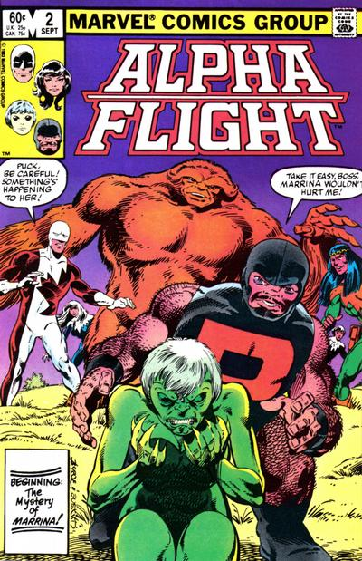 Cover for Alpha Flight (1983 series) #2 [Newsstand]