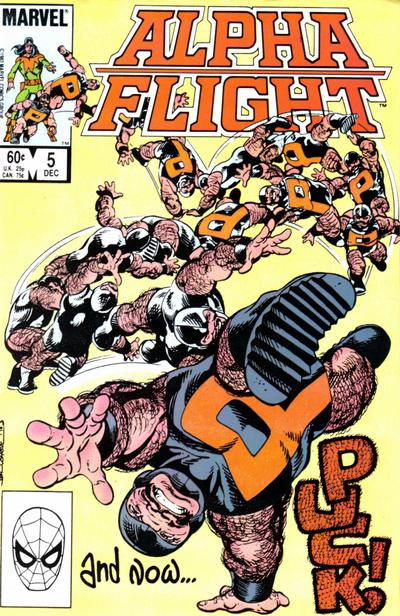 Cover for Alpha Flight (Marvel, 1983 series) #5 [Direct]