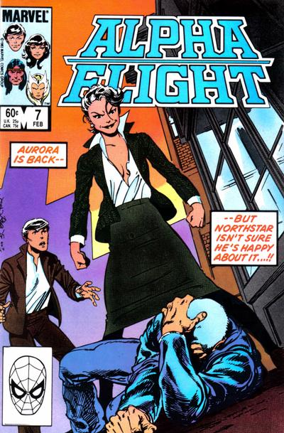 Cover for Alpha Flight (Marvel, 1983 series) #7 [Newsstand Edition]