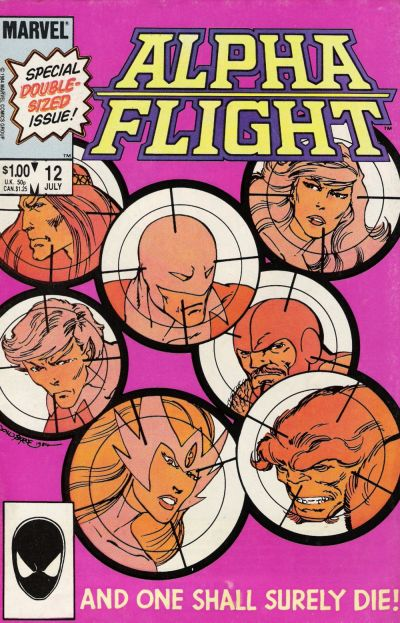 Cover for Alpha Flight (1983 series) #12 [Newsstand Edition]