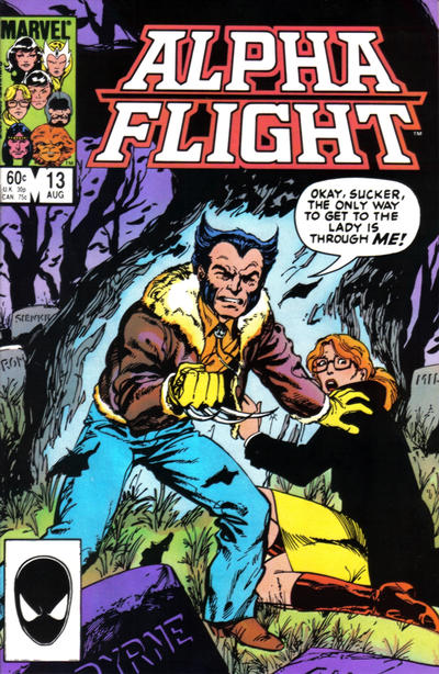 Cover for Alpha Flight (1983 series) #13 [Newsstand Edition]