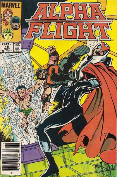 Cover for Alpha Flight (Marvel, 1983 series) #16 [Direct Edition]
