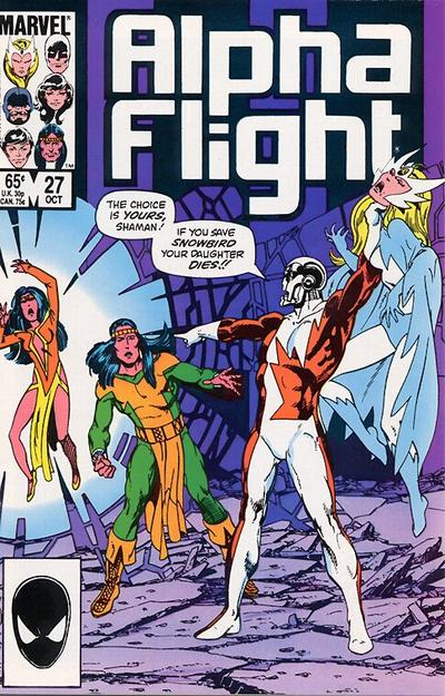 Cover for Alpha Flight (Marvel, 1983 series) #27 [Direct Edition]