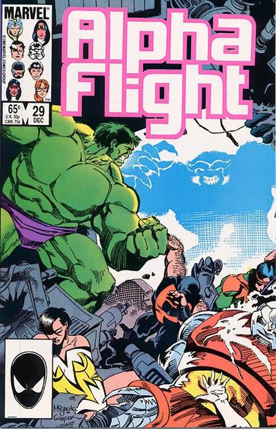 Cover for Alpha Flight (1983 series) #29 [newsstand edition]