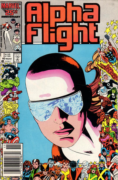 Cover for Alpha Flight (Marvel, 1983 series) #40 [Newsstand Edition]