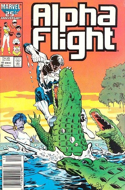 Cover for Alpha Flight (Marvel, 1983 series) #41 [Newsstand Edition]