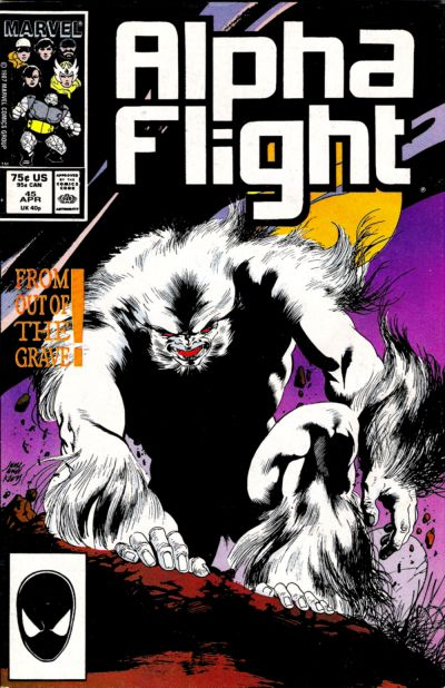 Cover for Alpha Flight (Marvel, 1983 series) #45 [Direct Edition]