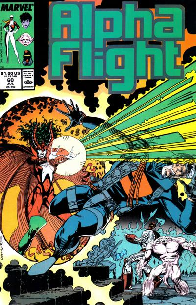 Cover for Alpha Flight (Marvel, 1983 series) #60