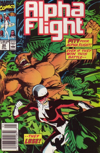 Cover for Alpha Flight (Marvel, 1983 series) #84