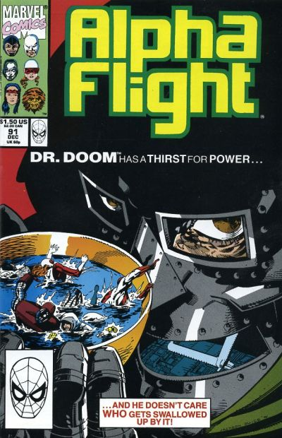 Cover for Alpha Flight (Marvel, 1983 series) #91