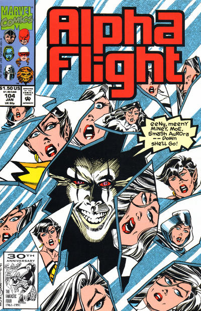Cover for Alpha Flight (Marvel, 1983 series) #104