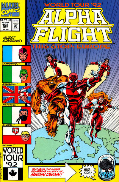 Cover for Alpha Flight (Marvel, 1983 series) #108