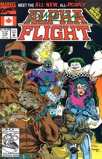 Cover for Alpha Flight (Marvel, 1983 series) #110