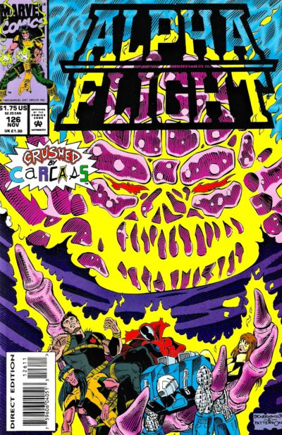 Cover for Alpha Flight (Marvel, 1983 series) #126