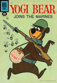 Cover Thumbnail for Four Color (Dell, 1942 series) #1162 - Yogi Bear Joins the Marines