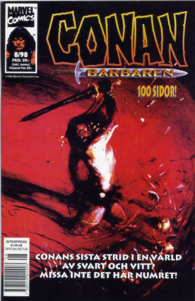 Cover for Conan (Egmont, 1997 series) #8/1998