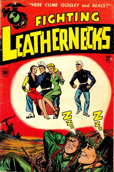 Cover for Fighting Leathernecks (Toby, 1952 series) #4