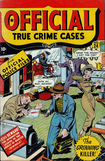 Cover for Official True Crime Cases Comics (Marvel, 1947 series) #24