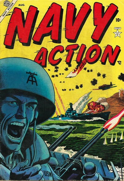 Cover for Navy Action (Marvel, 1954 series) #1