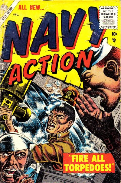 Cover for Navy Action (Marvel, 1954 series) #9