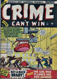Cover Thumbnail for Crime Can't Win (Marvel, 1950 series) #41 [1]
