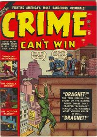 Cover Thumbnail for Crime Can't Win (Marvel, 1950 series) #10