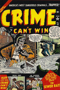 Cover Thumbnail for Crime Can't Win (Marvel, 1951 series) #12