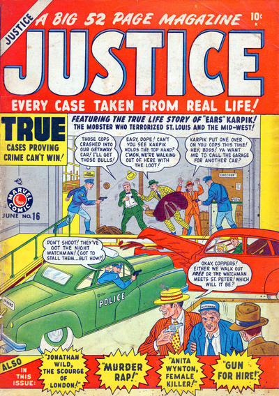 Cover for Justice (Marvel, 1947 series) #16