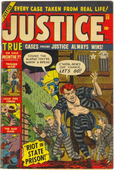 Cover for Justice (Marvel, 1947 series) #33