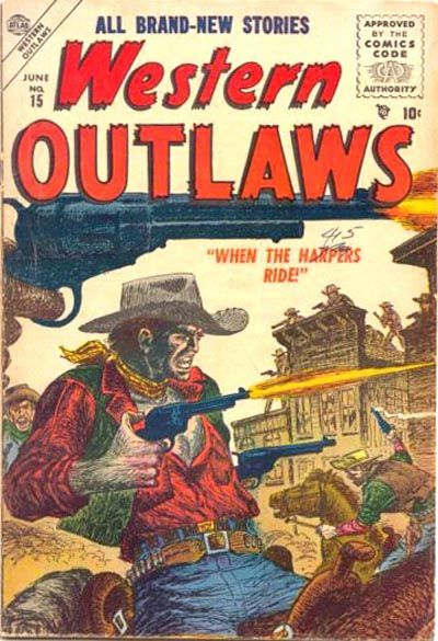 Cover for Western Outlaws (Marvel, 1954 series) #15
