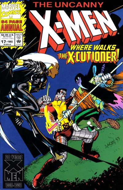 Cover for The Uncanny X-Men Annual (Marvel, 1992 series) #17 [Direct Edition]